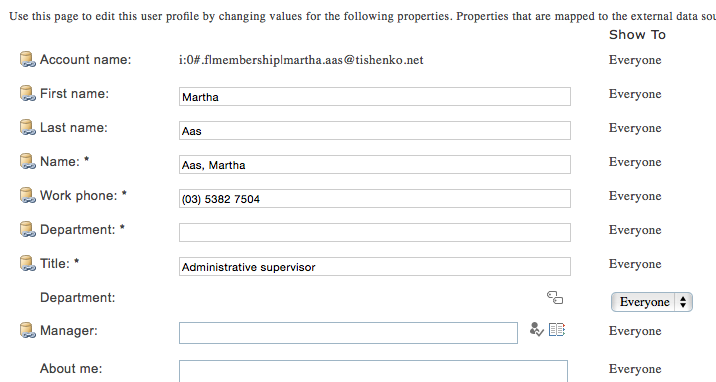 SharePoint Online User Profile Properties Sync