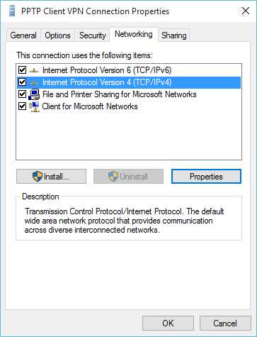 TCP/IPv4 Properties button not functioning