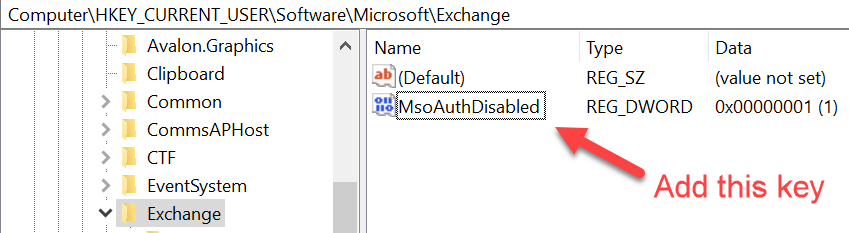 Outlook 2019 autodiscover fails when adding new accounts